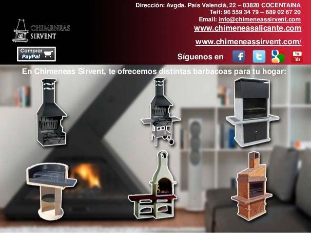 Chimeneas sirvent venta de barbacoas online en alicante - Chimeneas en castellon ...