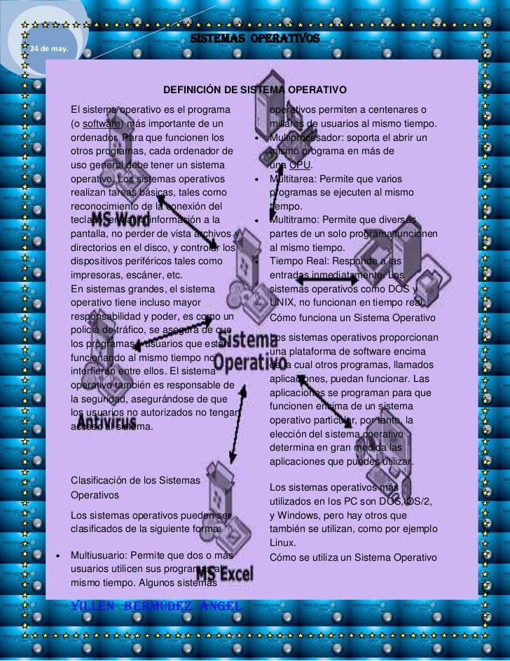 -3848095080<br />DEFINICIÓN DE SISTEMA OPERATIVO<br />Elsistema operativoes el programa (osoftware) más importante de u...