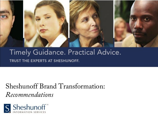 Sheshunoff Brand Transformation: Recommendations