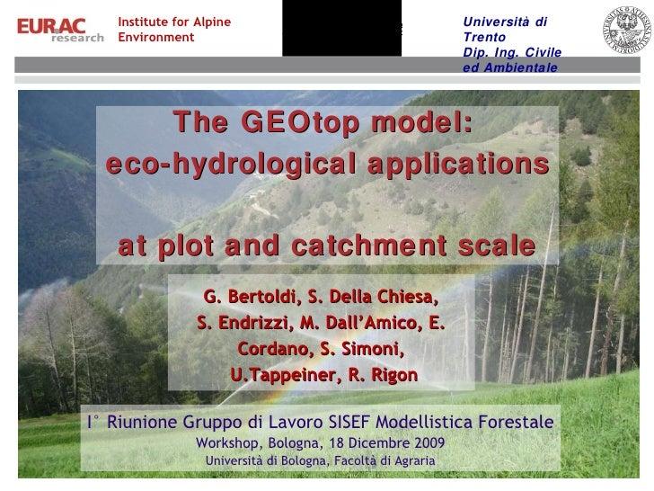GEOtop Sisef presentation