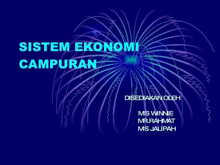 Sistem Ekonomi Campuran 2009