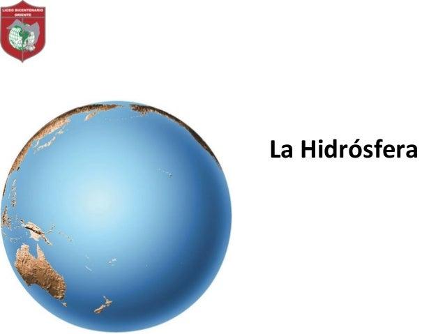 La Hidrósfera