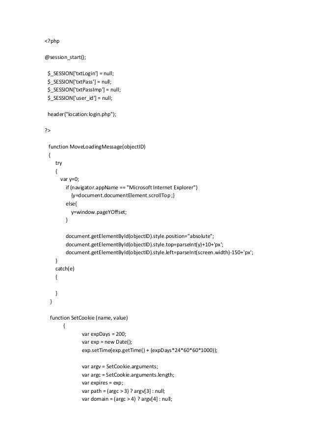 <?php@session_start(); $_SESSION[txtLogin] = null; $_SESSION[txtPass] = null; $_SESSION[txtPassImp] = null; $_SESSION[user...