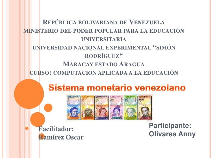 REPÚBLICA BOLIVARIANA DE VENEZUELAMINISTERIO DEL PODER POPULAR PARA LA EDUCACIÓN                 UNIVERSITARIA  UNIVERSIDA...