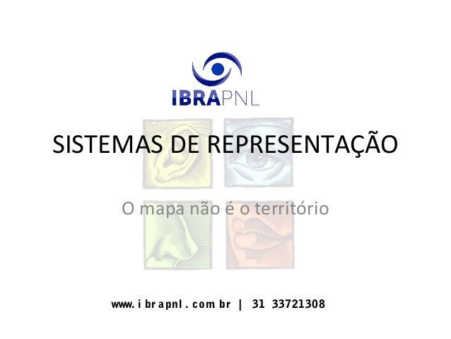 www. i br apnl . com. br | 31 33721308 SISTEMAS DE REPRESENTAÇÃO O mapa não é o território