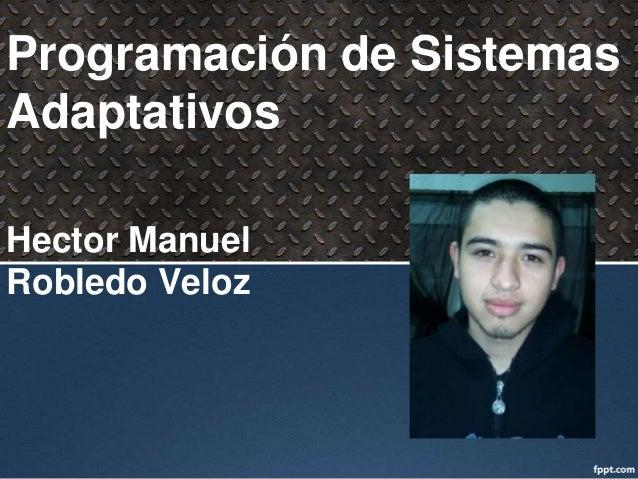 Programación de SistemasAdaptativosHector ManuelRobledo Veloz