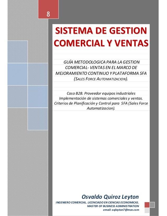 8    SISTEMA DE GESTION    COMERCIAL Y VENTAS       GUÍA METODOLOGICA PARA LA GESTION        COMERCIAL- VENTAS EN EL MARCO...