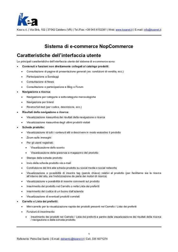 E-commerce software NopCommerce