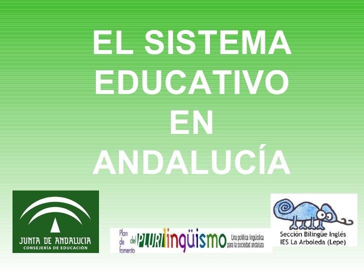 EL SISTEMA EDUCATIVO EN ANDALUCÍA