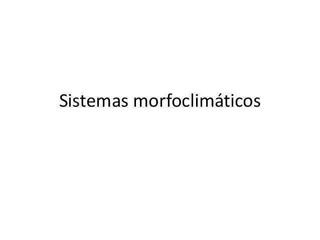 Sistemas morfoclimáticos