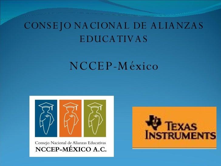 CONSEJO NACIONAL DE ALIANZAS EDUCATIVAS NCCEP-México