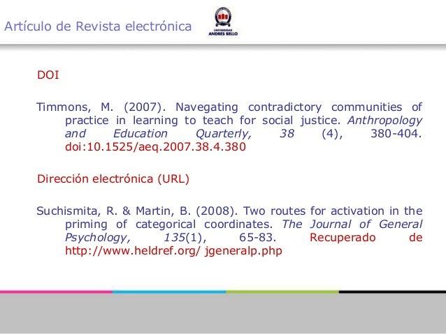 Citas Bibliograficas Segun Manual Apa