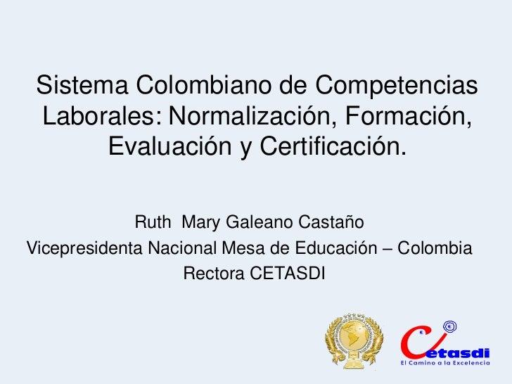 Pedro Espino Vargas - Sistema colombiano de competencias laborales