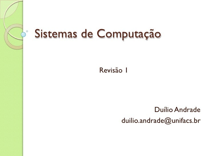 Sistema Computacao Revisao 1