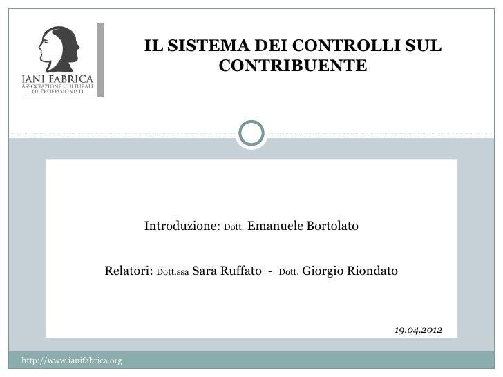 Sistema controlli contribuente_ruffato_riondato_ianifabrica