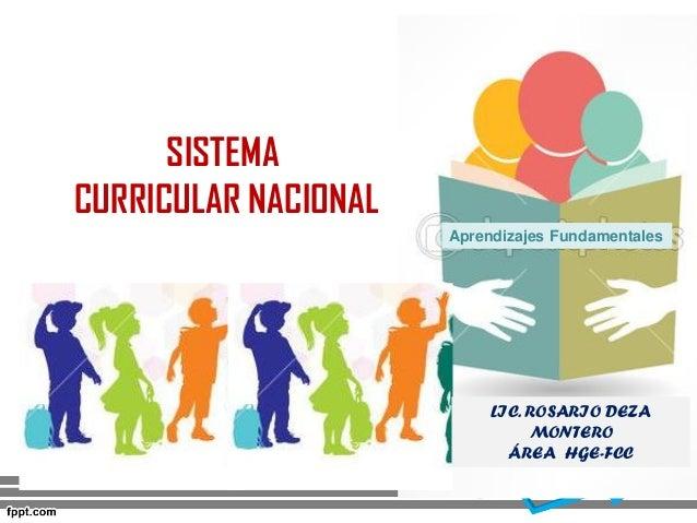 SISTEMA CURRICULAR NACIONAL Aprendizajes Fundamentales LIC. ROSARIO DEZA MONTERO ÁREA HGE-FCC
