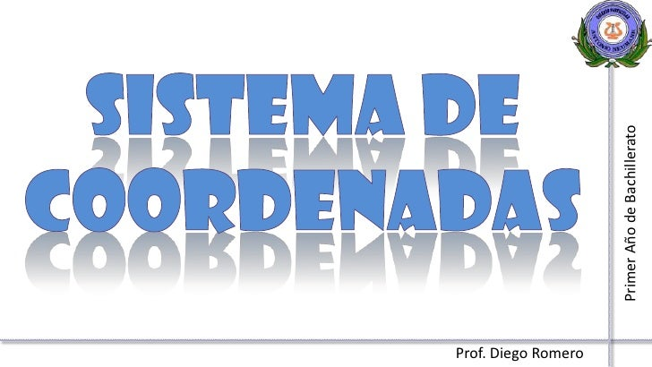 Sistema de coordenadas<br />Primer Año de Bachillerato<br />Prof. Diego Romero<br />