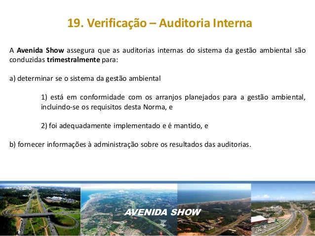 Auditoria Ambiental Interna Auditoria Interna a