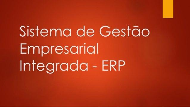 Sistema de Gestão Empresarial Integrada - ERP