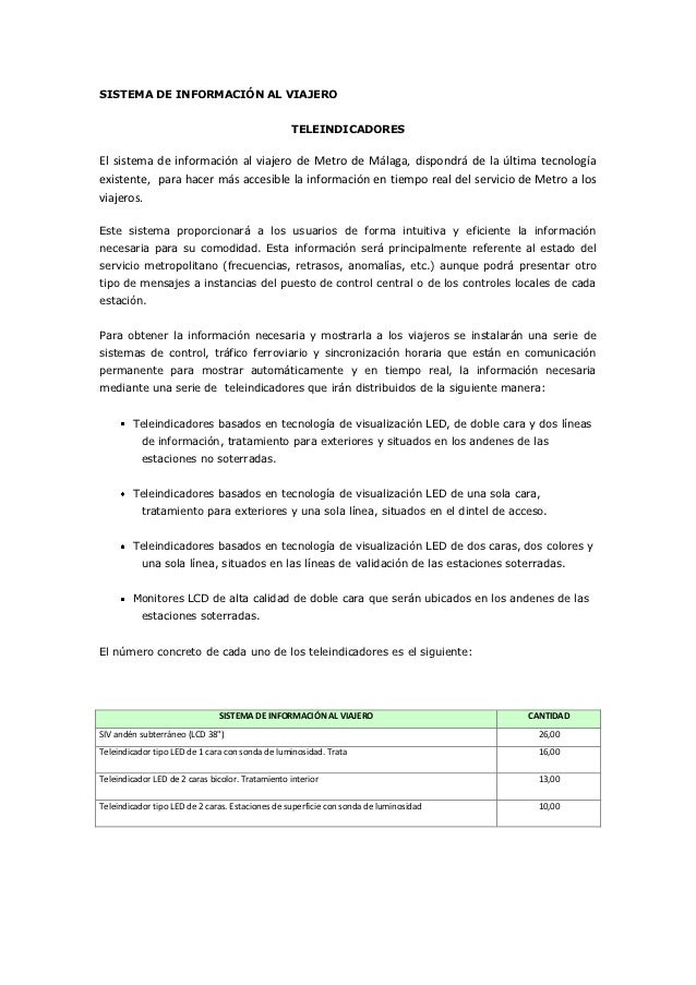 SISTEMA DE INFORMACIÓN AL VIAJERO                                                  TELEINDICADORESEl sistema de informació...