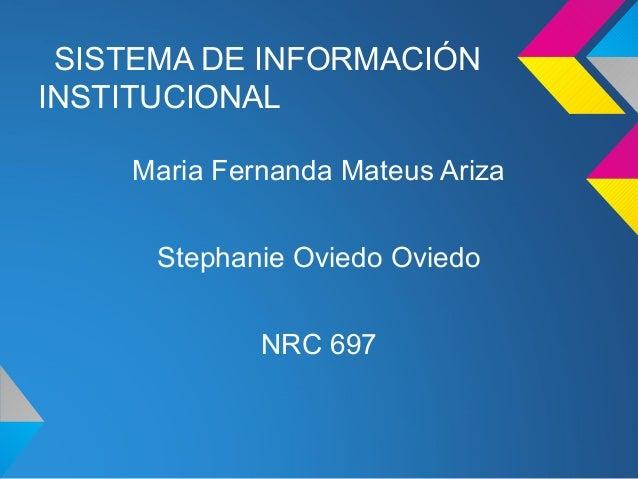 Sistema de información institucional