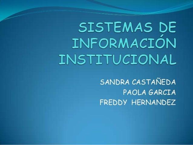 Sistema de informacion institucional