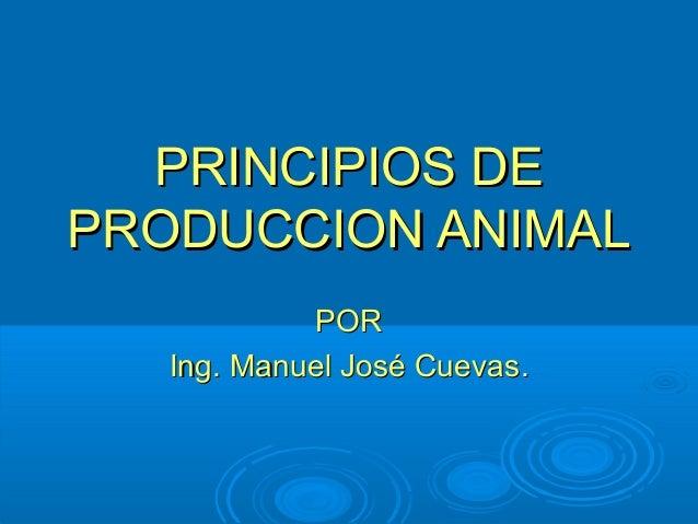 Principios de producción animal