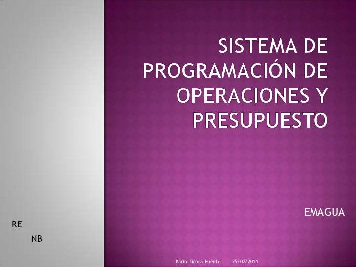 Sistema de programación de operaciones y presupuesto