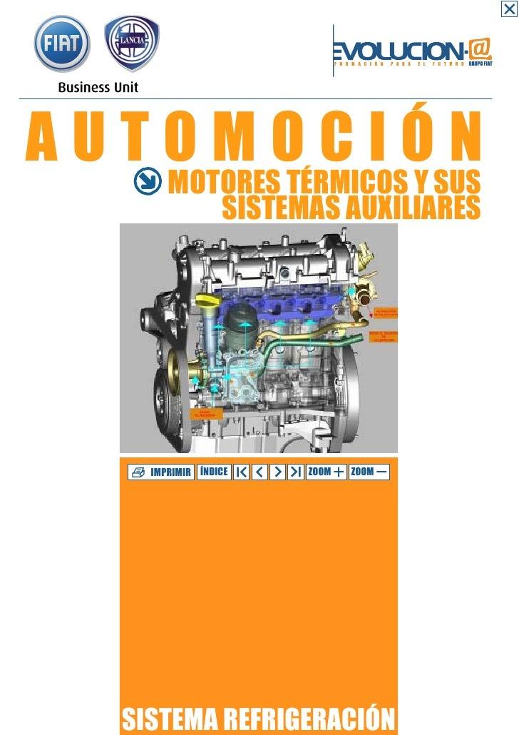 AUTOMOCIÓN       MOTORES TÉRMICOS Y SUS          SISTEMAS AUXILIARES    IMPRIMIR ÍNDICE   ZOOM   ZOOM  SISTEMA REFRIGERACIÓN
