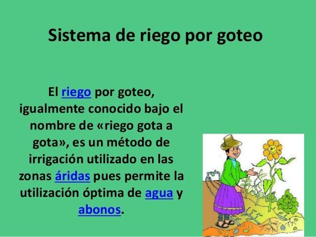 Sistema de riego por goteo - Riego gota a gota ...
