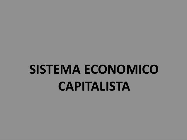 Sistema economico capitalista
