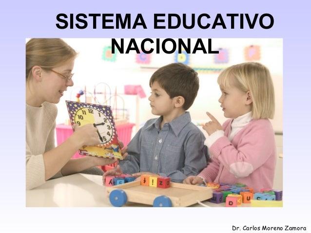 Dr. Carlos Moreno Zamora SISTEMA EDUCATIVO NACIONAL