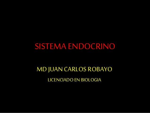 SISTEMA ENDOCRINO MD JUAN CARLOS ROBAYO LICENCIADOEN BIOLOGIA