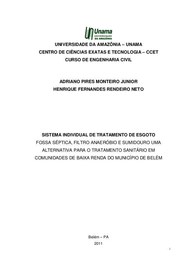 i UNIVERSIDADE DA AMAZÔNIA – UNAMA CENTRO DE CIÊNCIAS EXATAS E TECNOLOGIA – CCET CURSO DE ENGENHARIA CIVIL ADRIANO PIRES M...