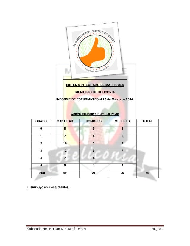 Sistema integrado de matricula   marzo