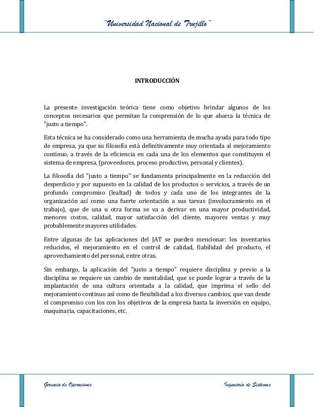 """""""Universidad Nacional de Trujillo""""                                   INTRODUCCIÓNLa presente investigación teórica tiene c..."""