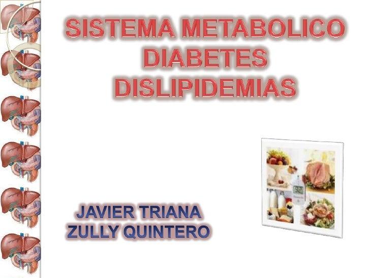 SISTEMA METABOLICO<br />DIABETES<br />DISLIPIDEMIAS <br />JAVIER TRIANA<br />ZULLY QUINTERO<br />