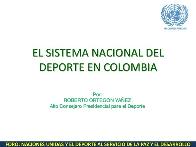 Sistema nacional del deporte en colombia