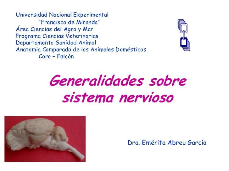 Universidad Nacional Experimental        ''Francisco de Miranda''Área Ciencias del Agro y MarPrograma Ciencias Veterinaria...