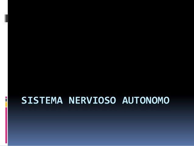 Farmacología Sistema Nervioso Autónomo