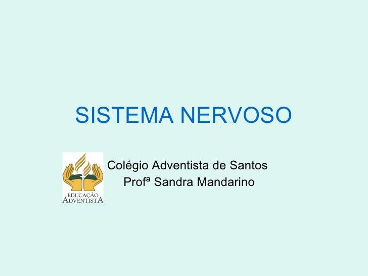 SISTEMA NERVOSO Colégio Adventista de Santos Profª Sandra Mandarino