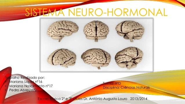 SISTEMA NEURO-HORMONAL Escola Básica 2º e 3º ciclos Dr. António Augusto Louro 2013/2014 Trabalho Realizado por: • Mariana ...