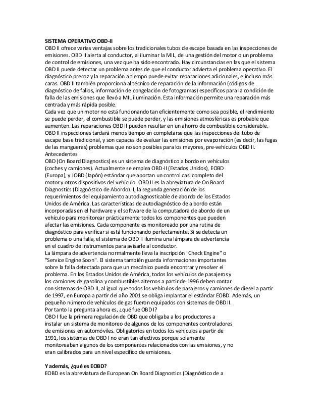 Sistema operativo OBDII