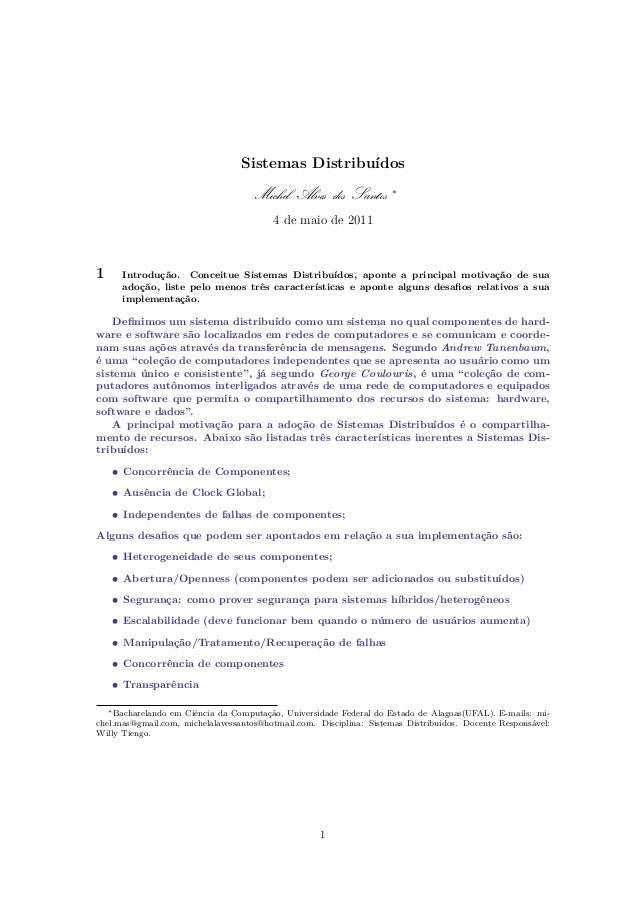 Distributed Systems - Exercises