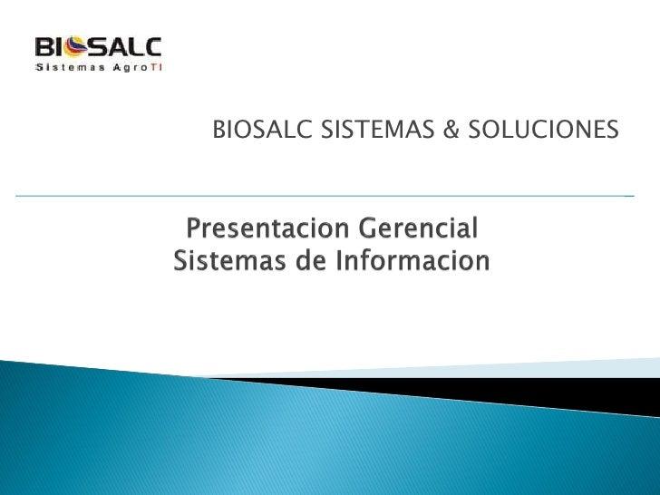 BIOSALC SISTEMAS & SOLUCIONES