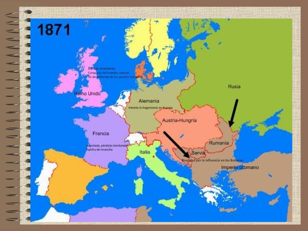 RELACIONES       INTERNACIONALESLos sistemas bismarckianos (1871-1890)• Hegemonía alemana en Europa• Aislar a Francia (evi...