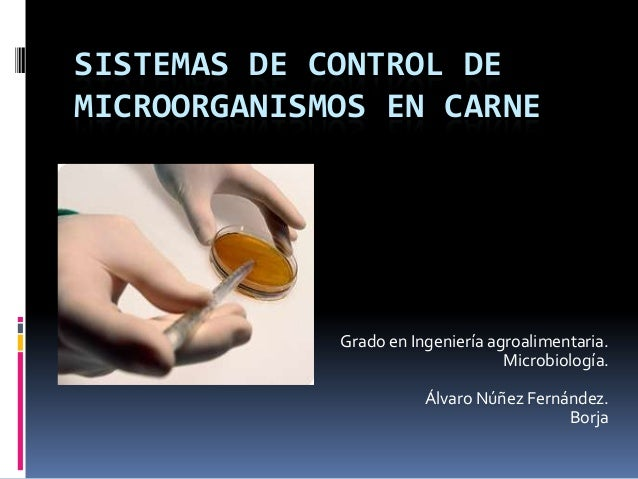 SISTEMAS DE CONTROL DEMICROORGANISMOS EN CARNE             Grado en Ingeniería agroalimentaria.                           ...