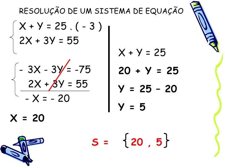 Sistemas De Duas Equaes Do 1o Grau A Duas Variveis | apexwallpapers ...