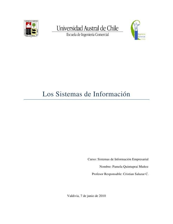 Los Sistemas de Información                          Curso: Sistemas de Información Empresarial                           ...