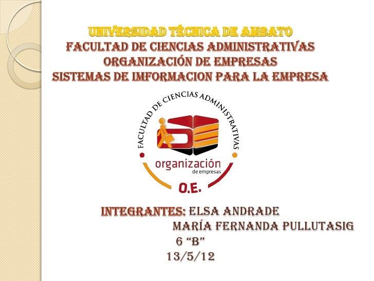 """Elsa Andrade María Fernanda Pullutasig 6 """"B""""13/5/12"""